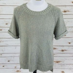 Banana Republic Women's Silver Top Sweater Blouse